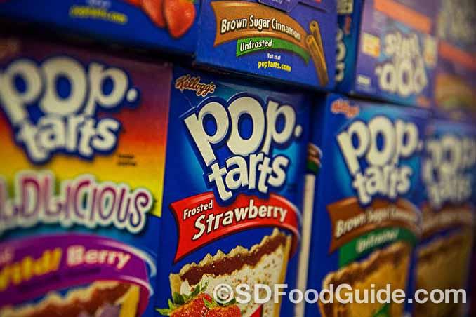 高糖低蛋白的垃圾食品家乐氏(Kellogg)果浆吐司饼干(Pop Tarts)。(Andrew Burton/Getty Images)